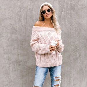 S. the Widow Sweaters - MARISSA Off Shoulder Knit Sweater